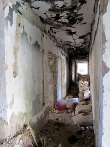 This hallway was the dividing line. Here people died.