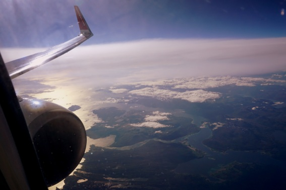 """...Norwegian Air slicing through thin air in northern Norway..."""