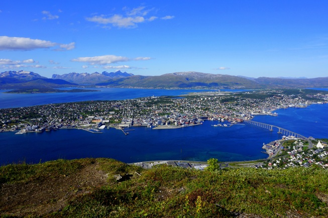"""...Tromsø from Mount Storsteinen on a clear day..."""