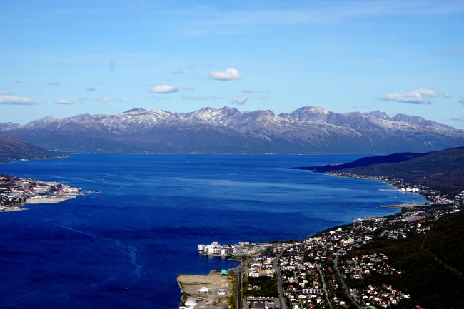 """...mountains to the north of Tromsø..."""