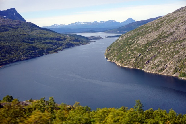'''..last glimpses of Narvik as the Arctic Circle train gets lost in the mountains...'''