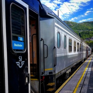 """...boarding the Arctic Circle train in Narvik..."""